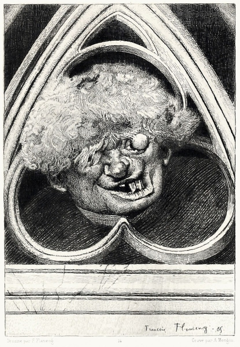 Illustration of Quasimodo Francois Flameng