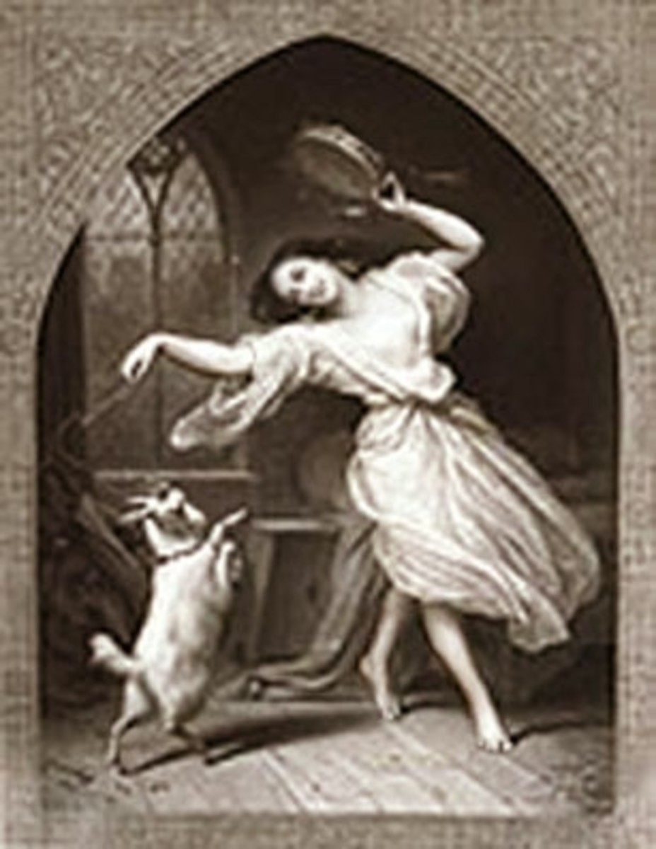 Esmeralda dancing with Djali Charles de Steuben, engraving by Jean-Pierre-Marie Jazet