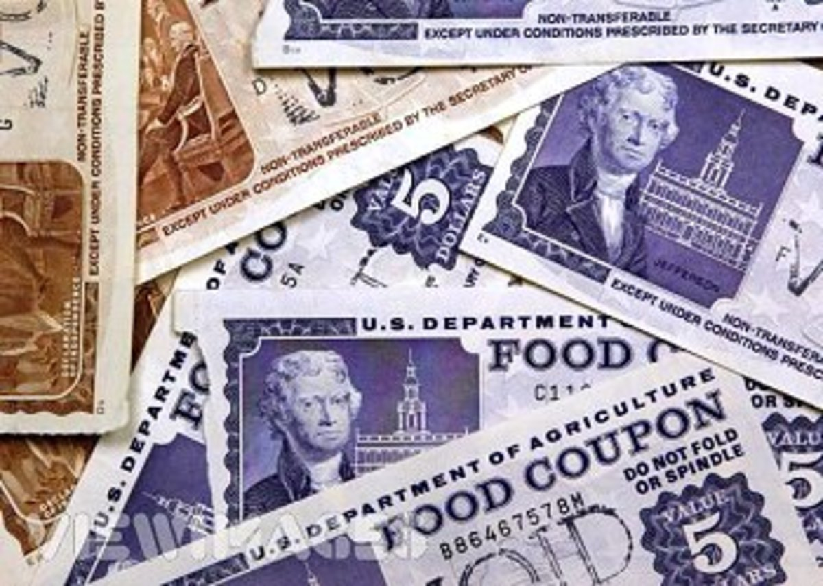 The actual food STAMPS looked like play money