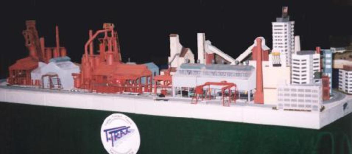 A T-Track steel industry module.