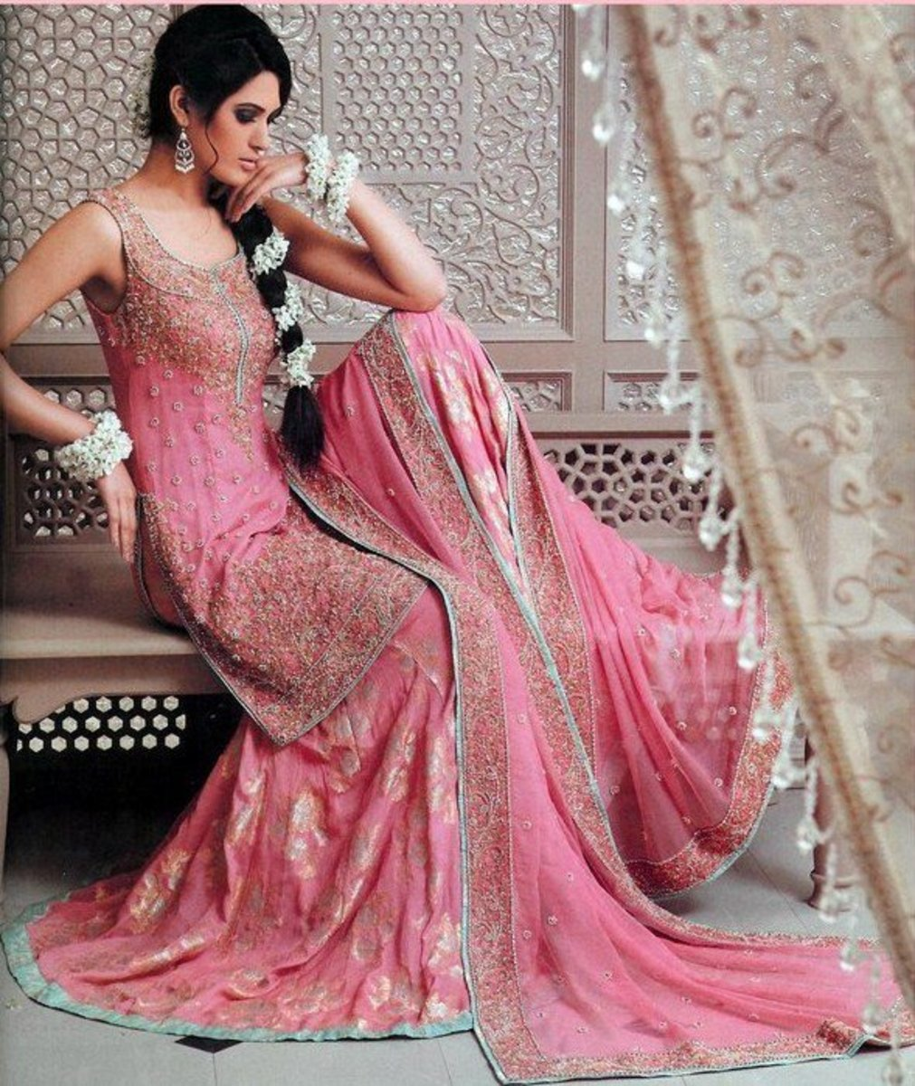 Gorgeous Pink Lahenga with long top