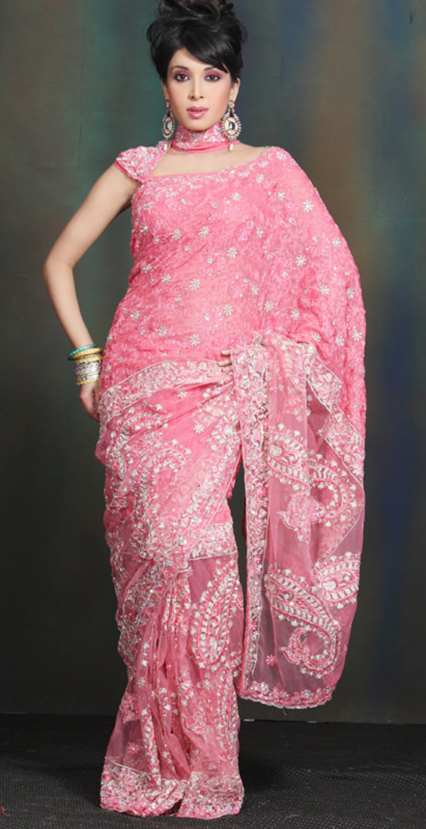 Pink Engagement Saree