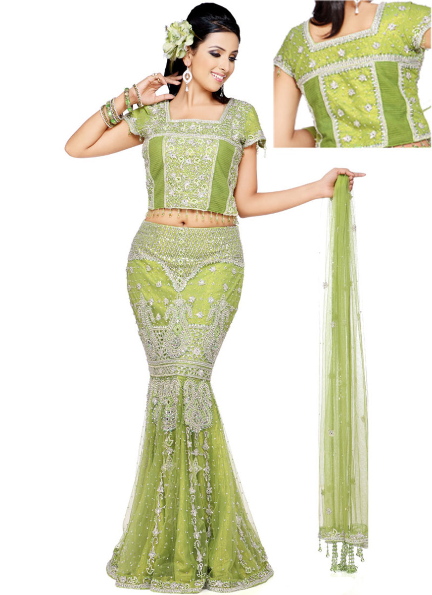 Green Lahenga