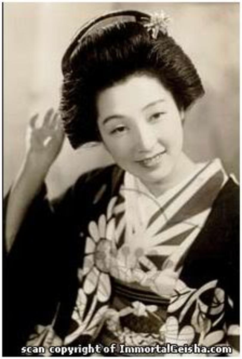 Geiko - nearly geisha before the World War II