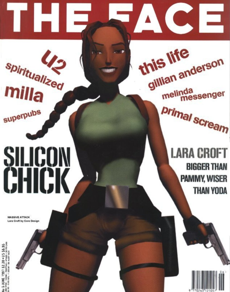 Lara Croft in Face magazine June 1997