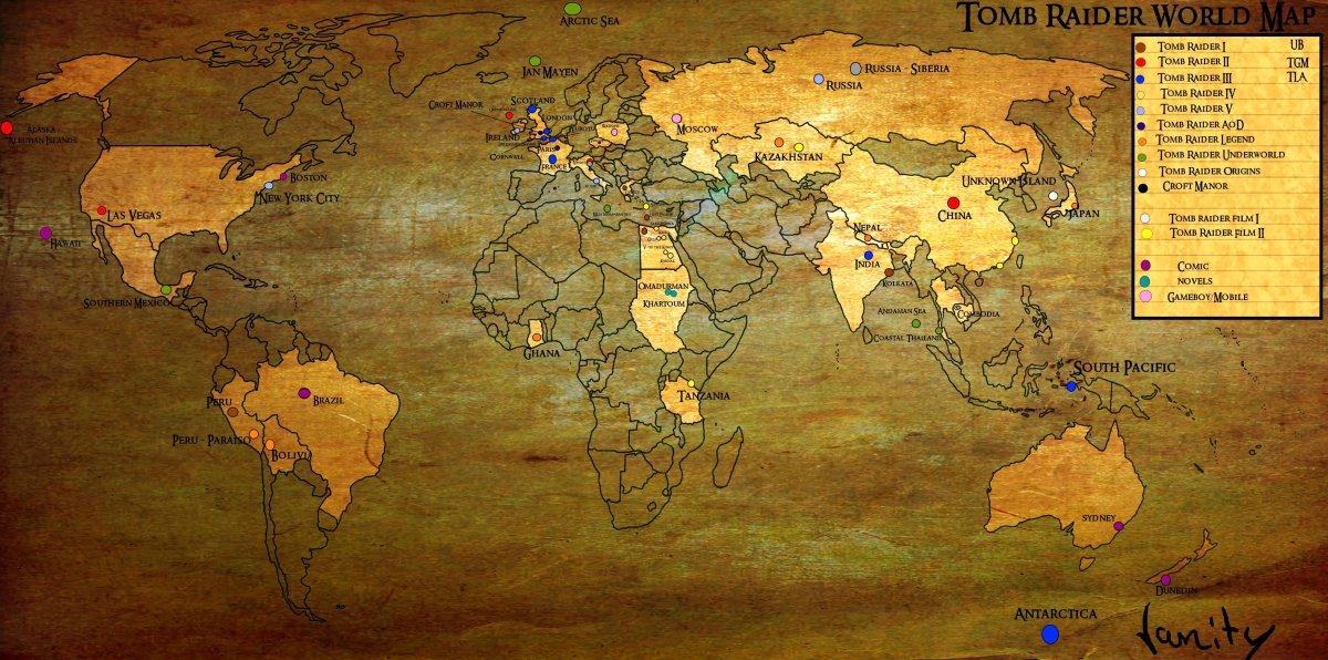 A Tomb Raider map