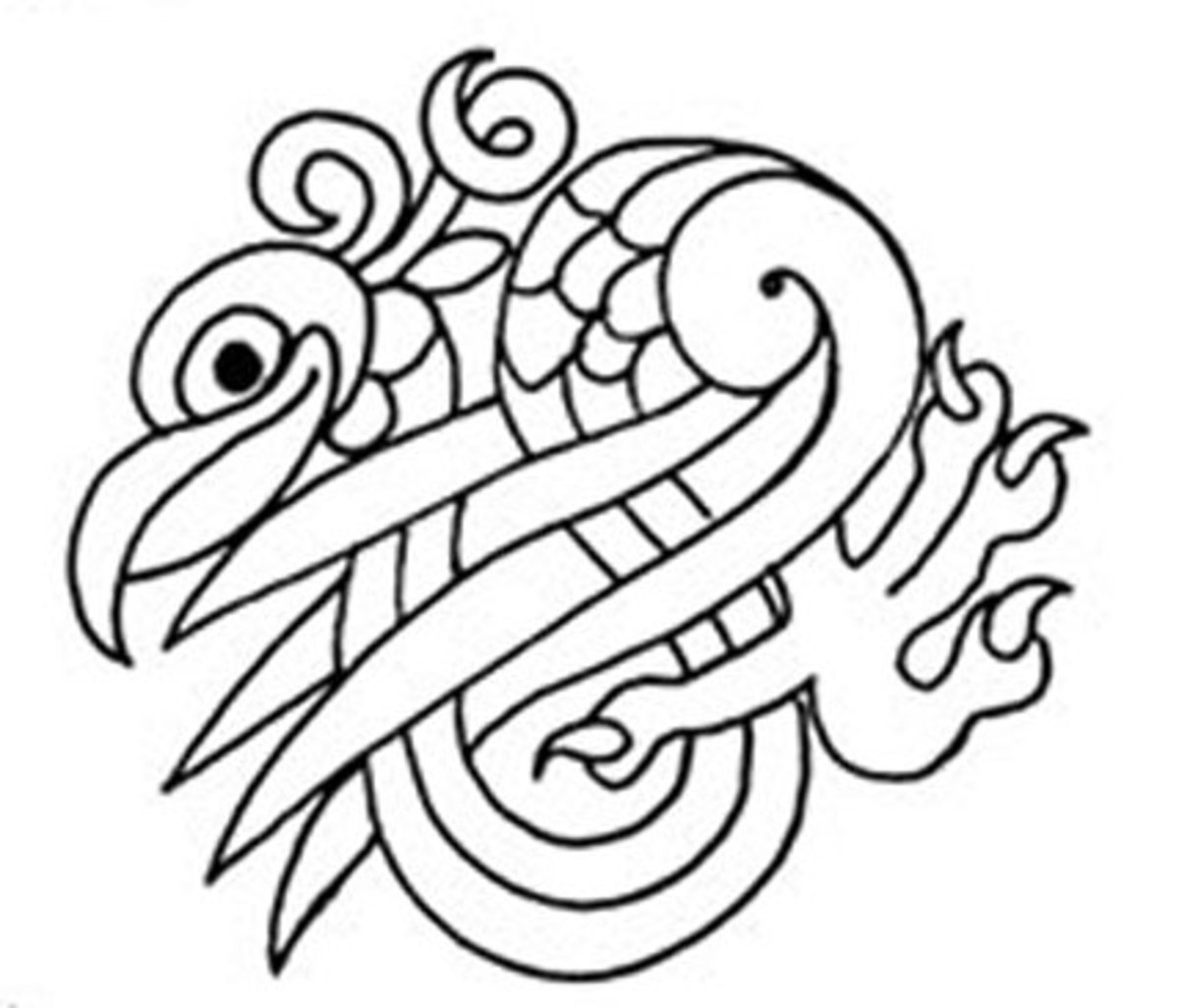 Celtic Design Art Coloring Pages for Kids Colouring Pictures to Print - Regal Bird