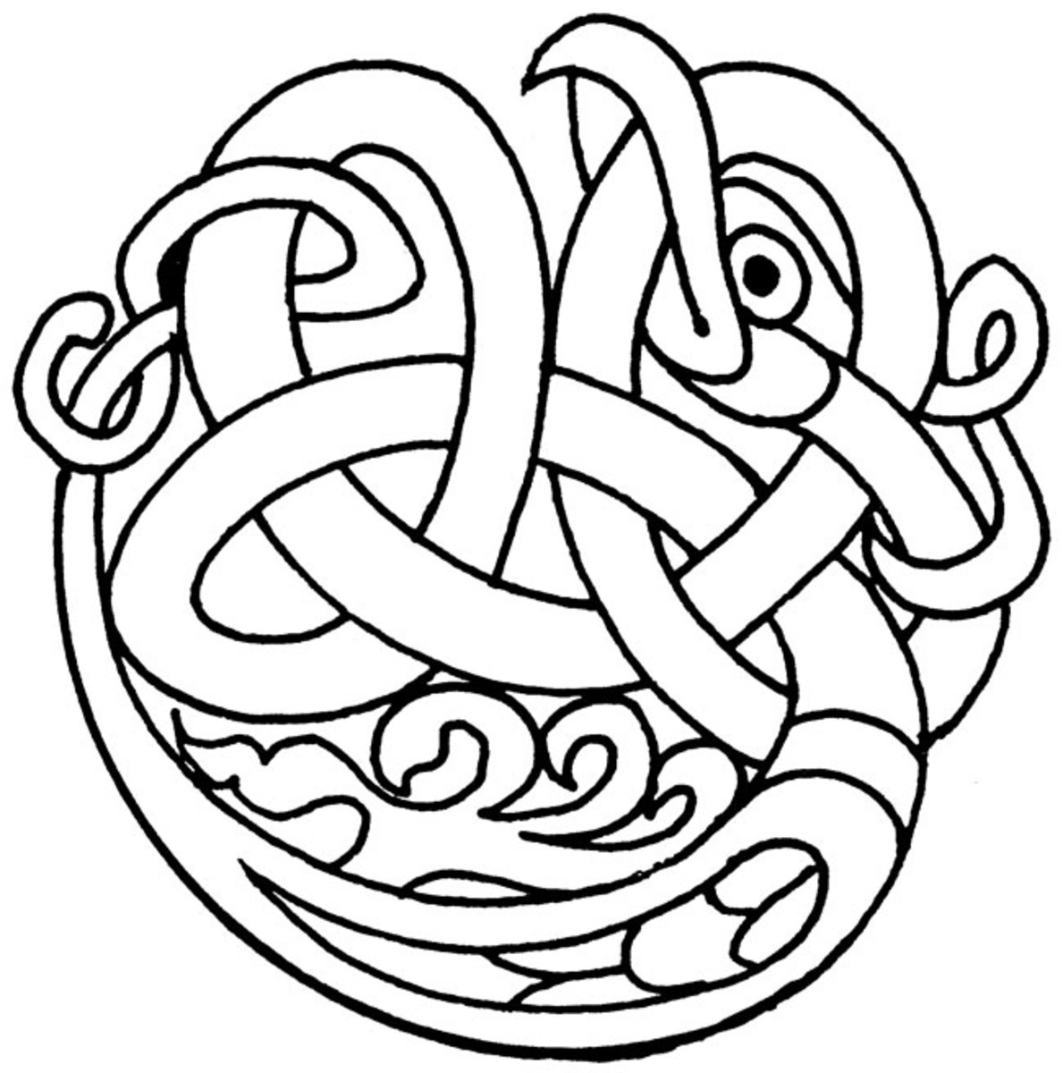 Celtic Design Art Coloring Pages for Kids Colouring Pictures to Print - Hawk