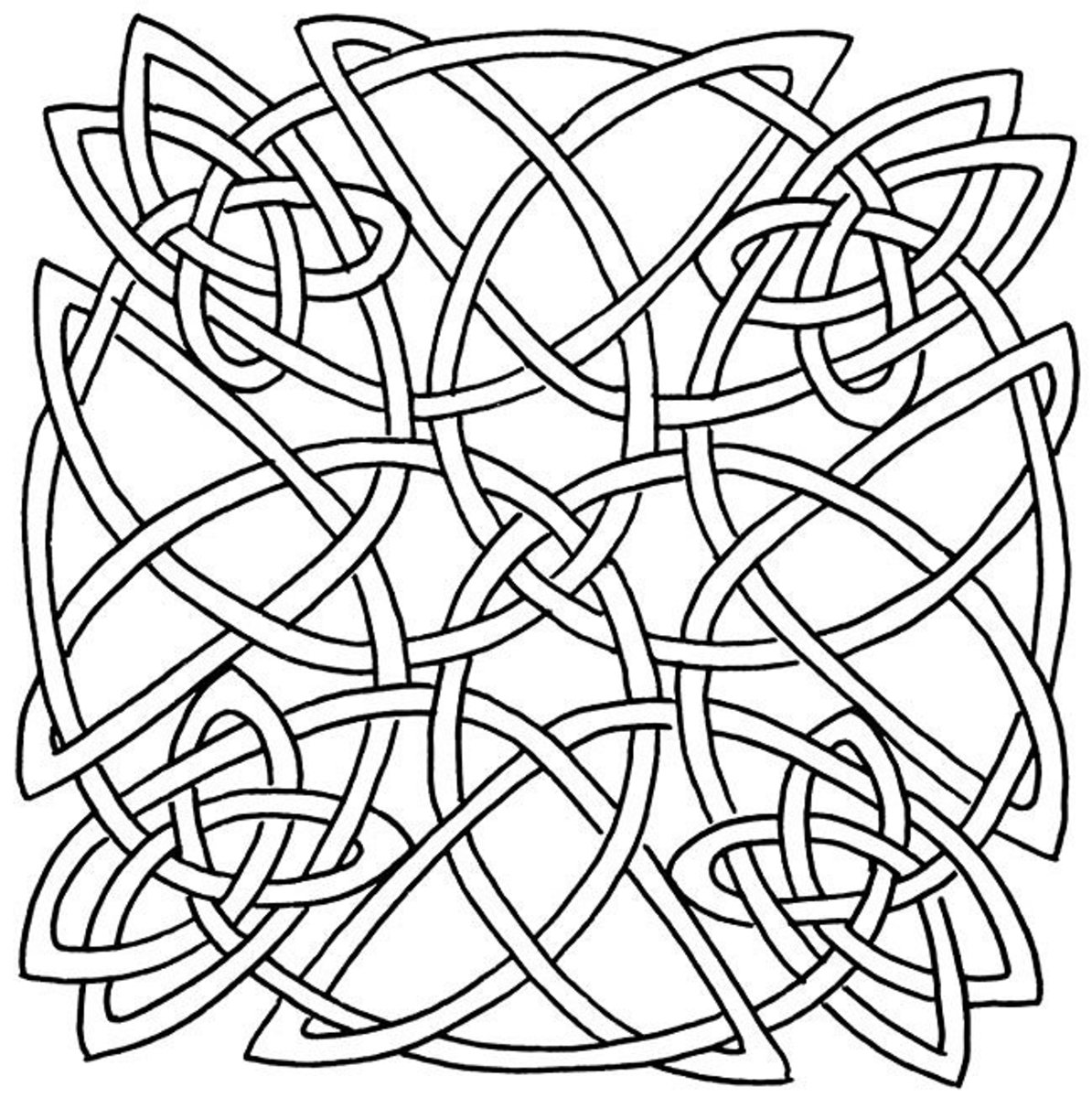 Celtic Design Art Coloring Pages for Kids Colouring Pictures to Print - Tribal