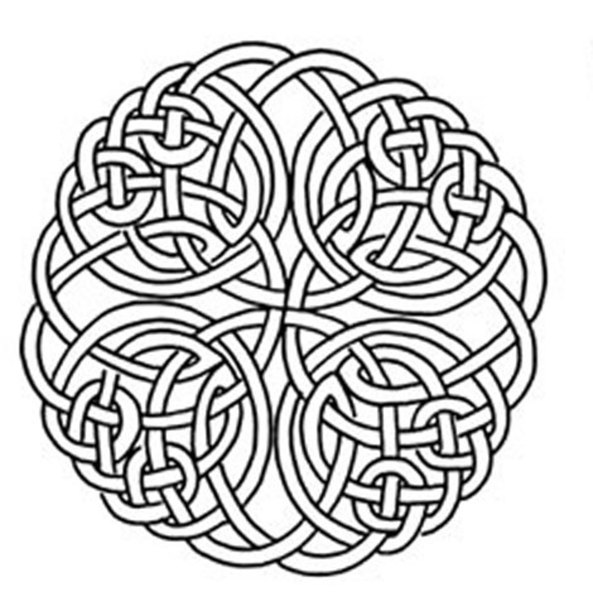 Celtic Design Art Coloring Pages for Kids Colouring Pictures to Print - Tribal Pattern