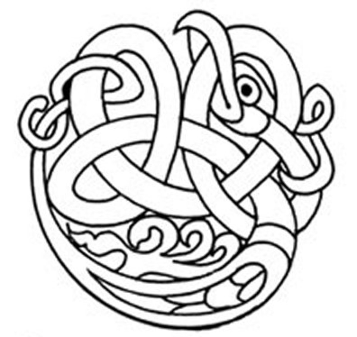 Celtic Design Art Coloring Pages for Kids Colouring Pictures to Print - Maternal Hawk