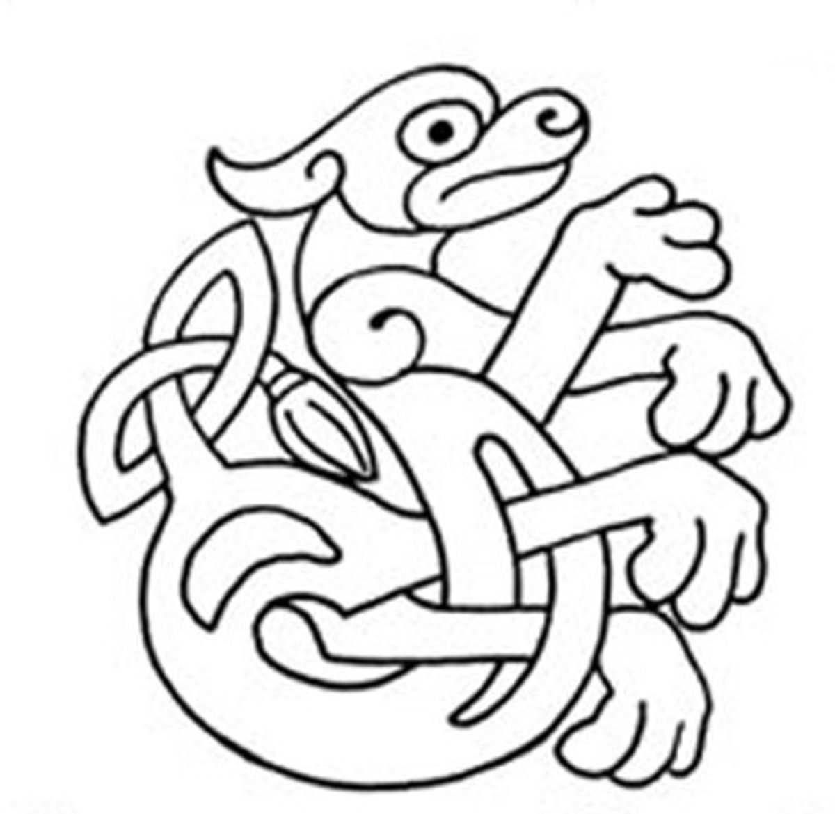 Celtic Design Art Coloring Pages for Kids Colouring Pictures to Print - Swift Hound