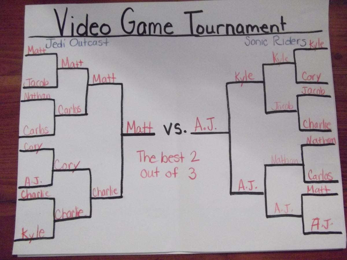 Fill in the winner slots as the tournament progresses.