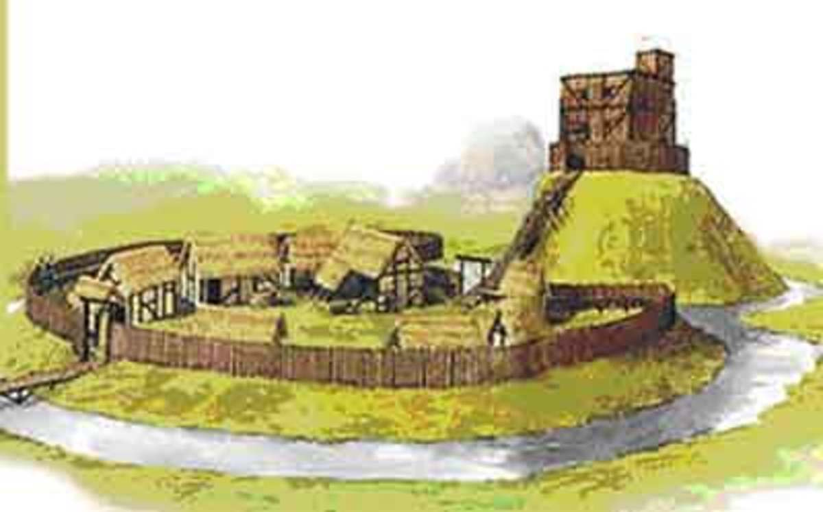 Not far away, a swathe of Norwich in East Anglia was cleared to build its castle - in wood - which was later enlarged and then consolidated in stone