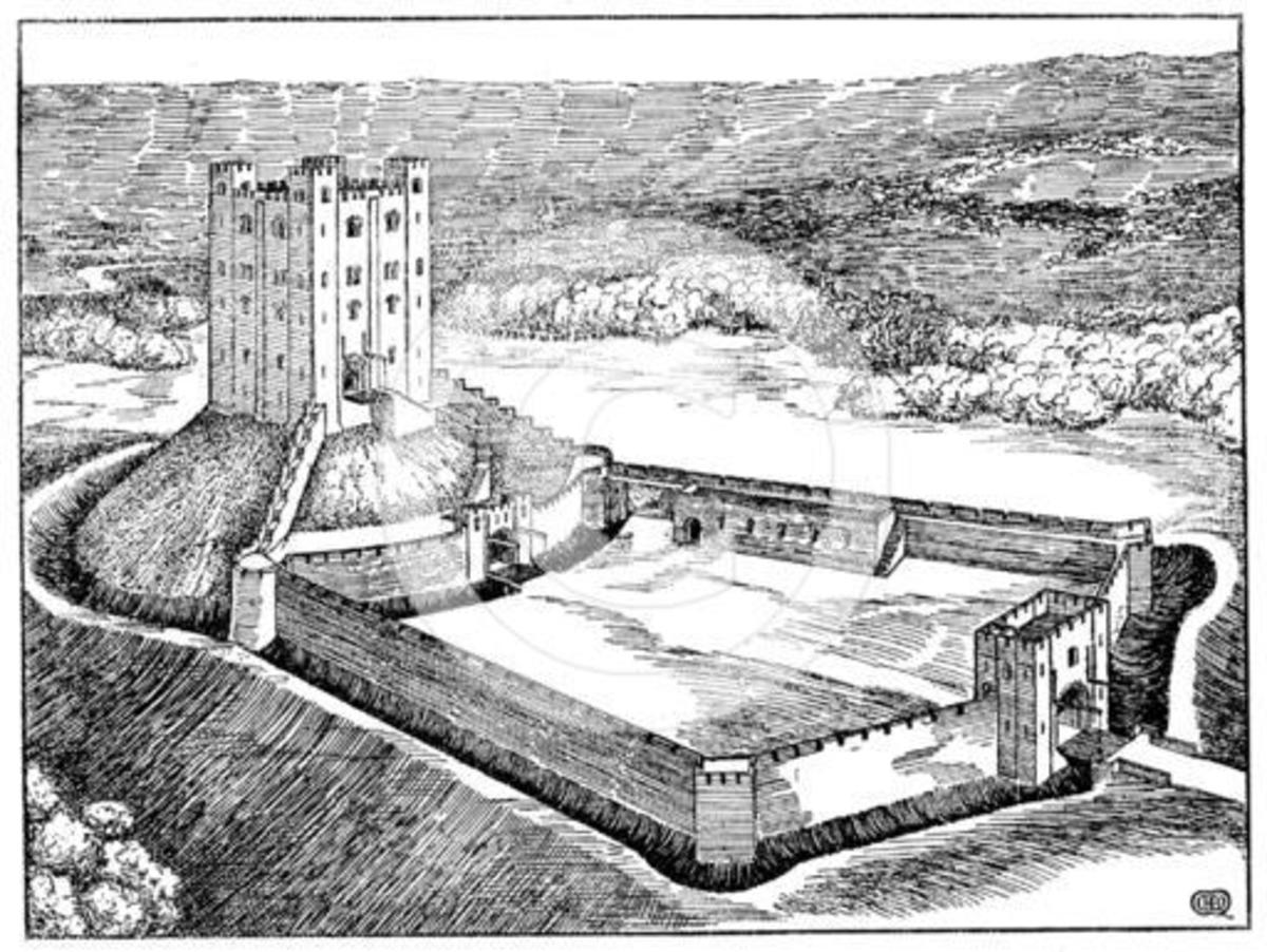 Further development of a stone-built castle - all well and good in a siege if the occupants had ample supplies and water, of little or no use against later cannon fire