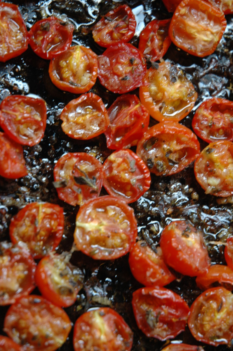 Herb Roasted Cherry Tomatoes are easy to make and delicious in your favorite recipes.