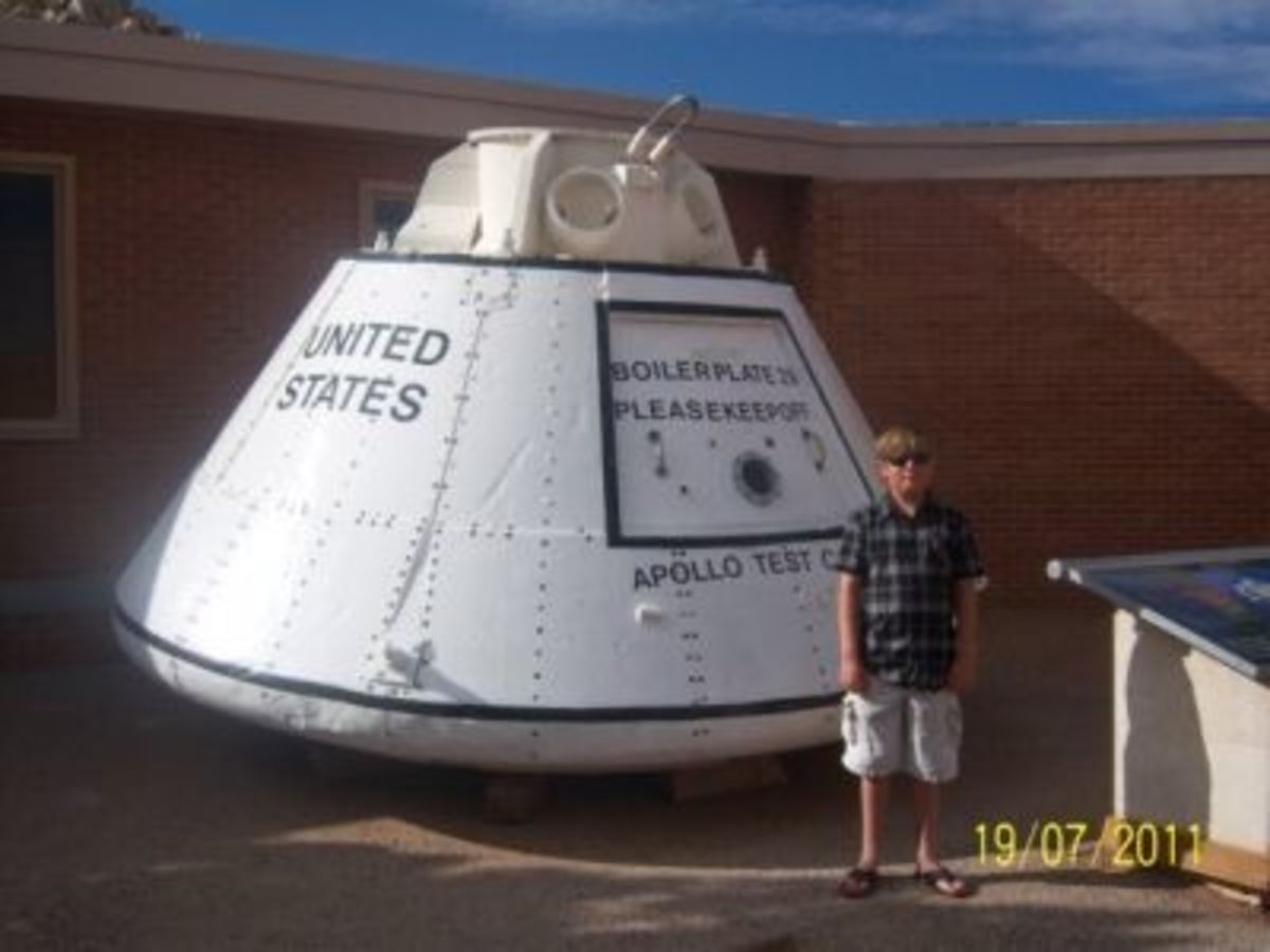 Apollo Test Capsule at Meteor Crater