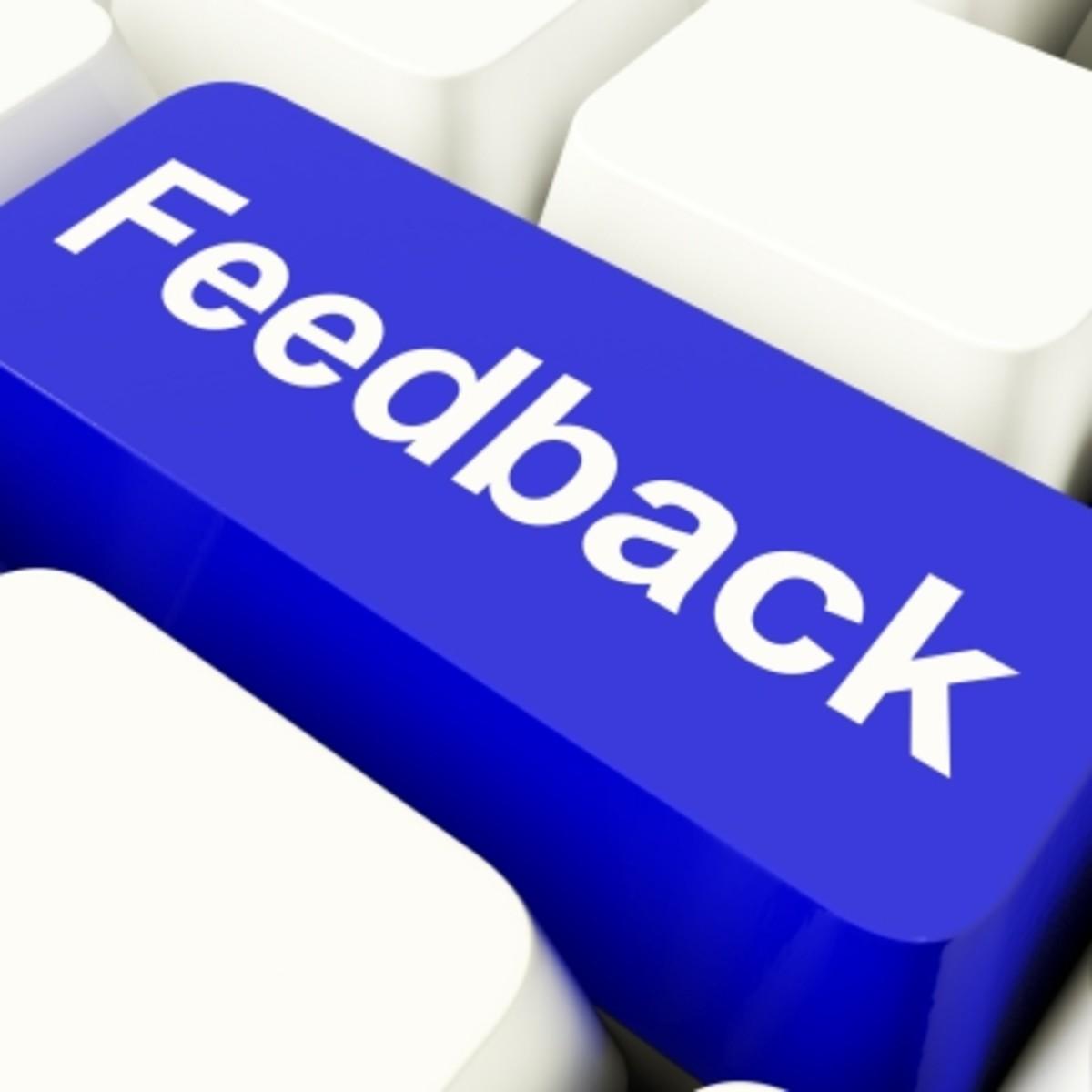 Do you give feedback?