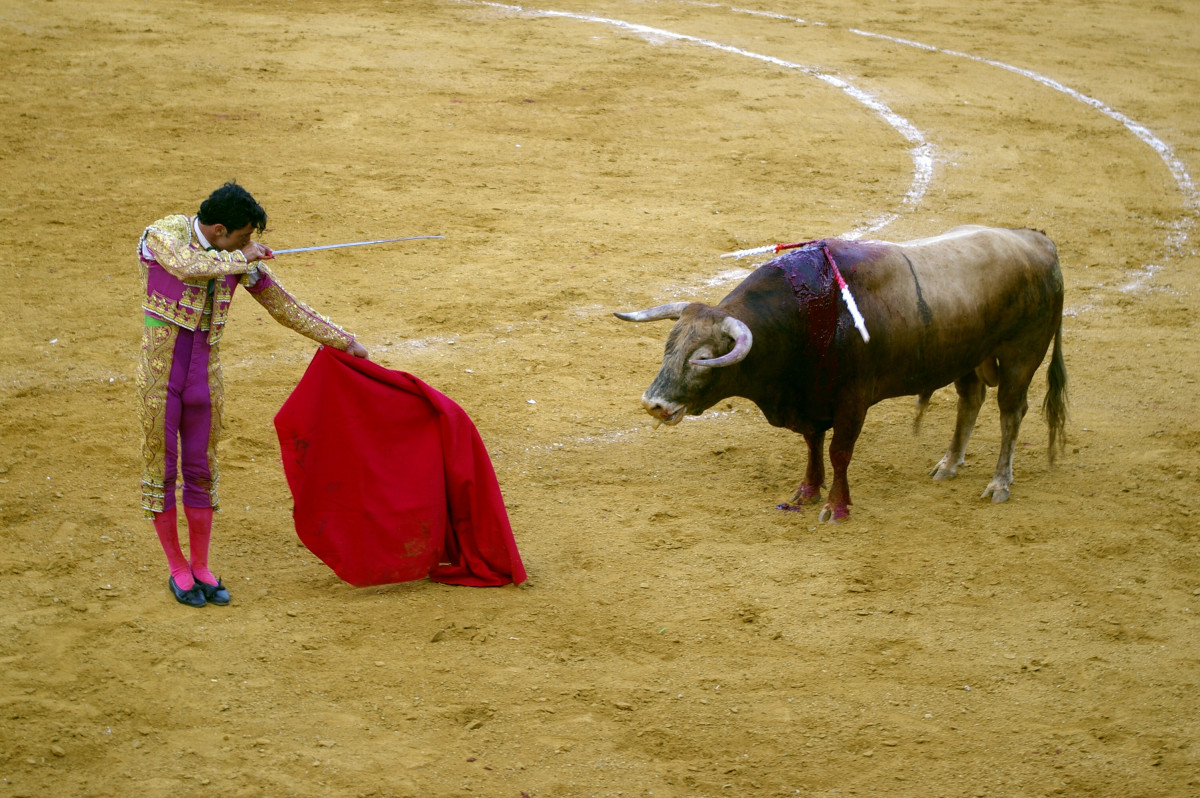 a-bullfight-in-spain