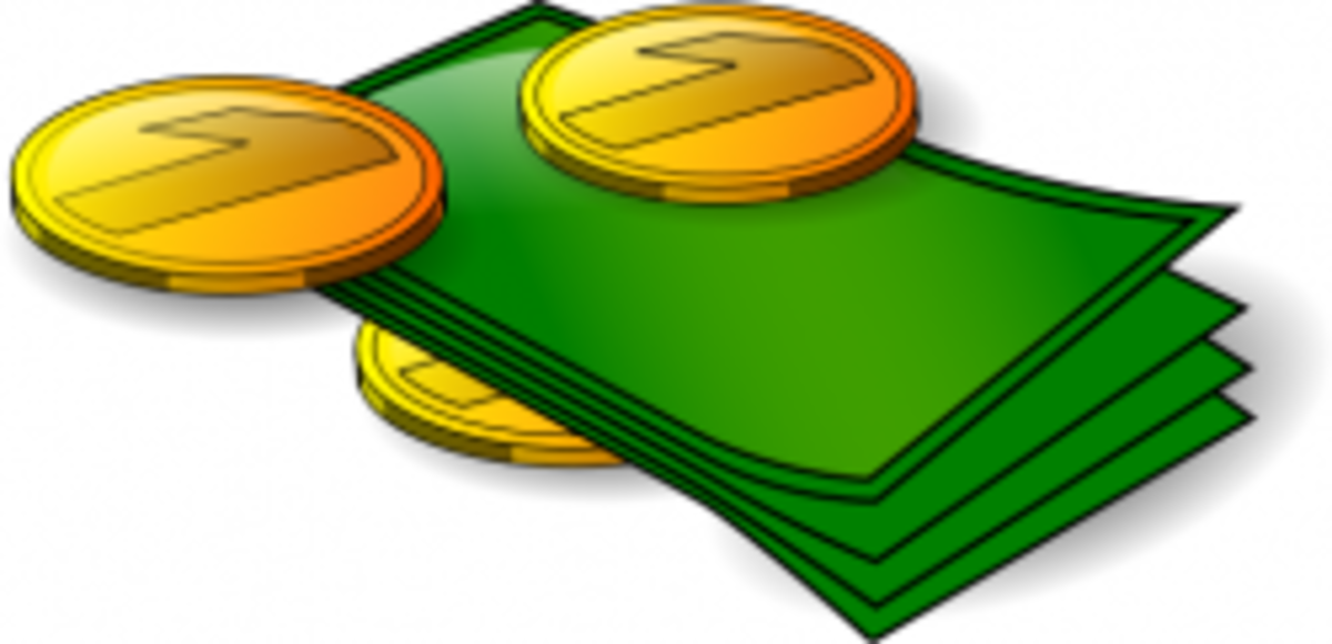 Image of banknotes and coin courtesy of n_kamil, under Creative Commons license.