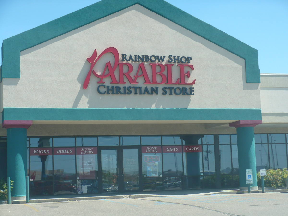 Parable Christian Stores like the Rainbow Shop in Bismarck, ND are places that Christian authors would hope to see their book being sold