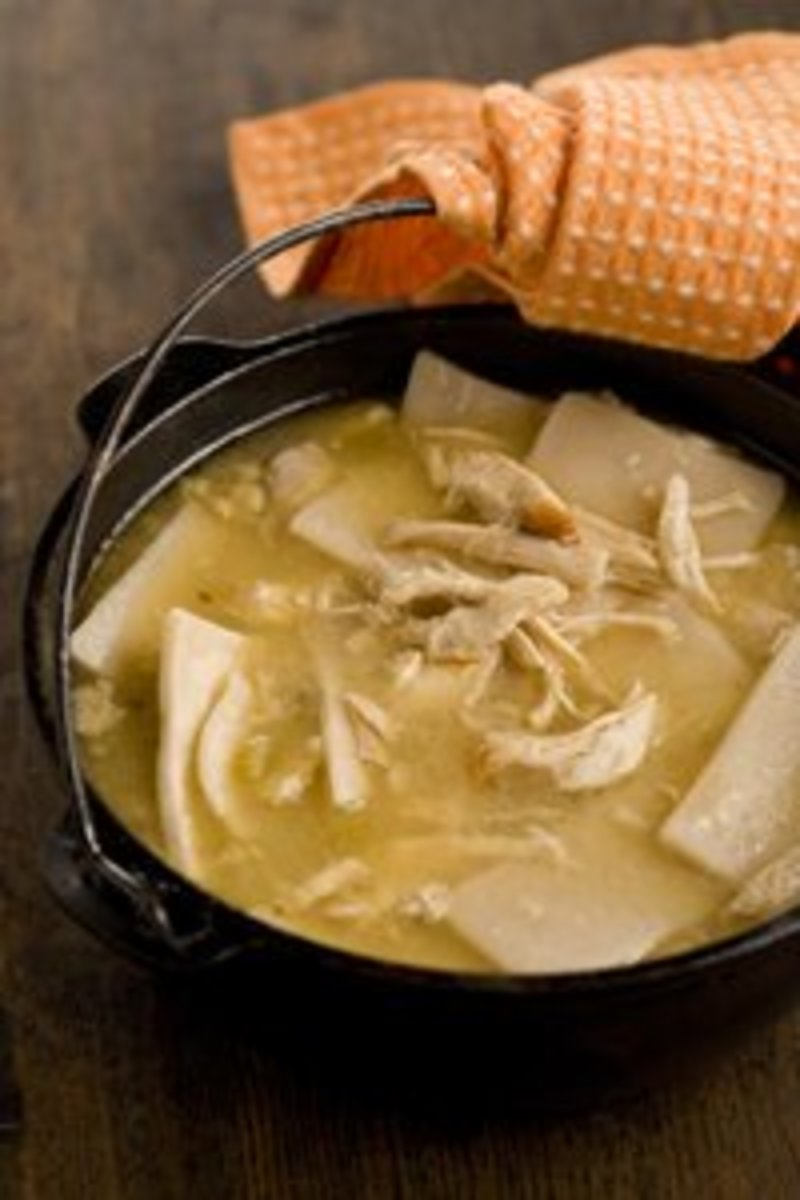 Great Grandma's Homemade Chicken and Dumplin recipe.