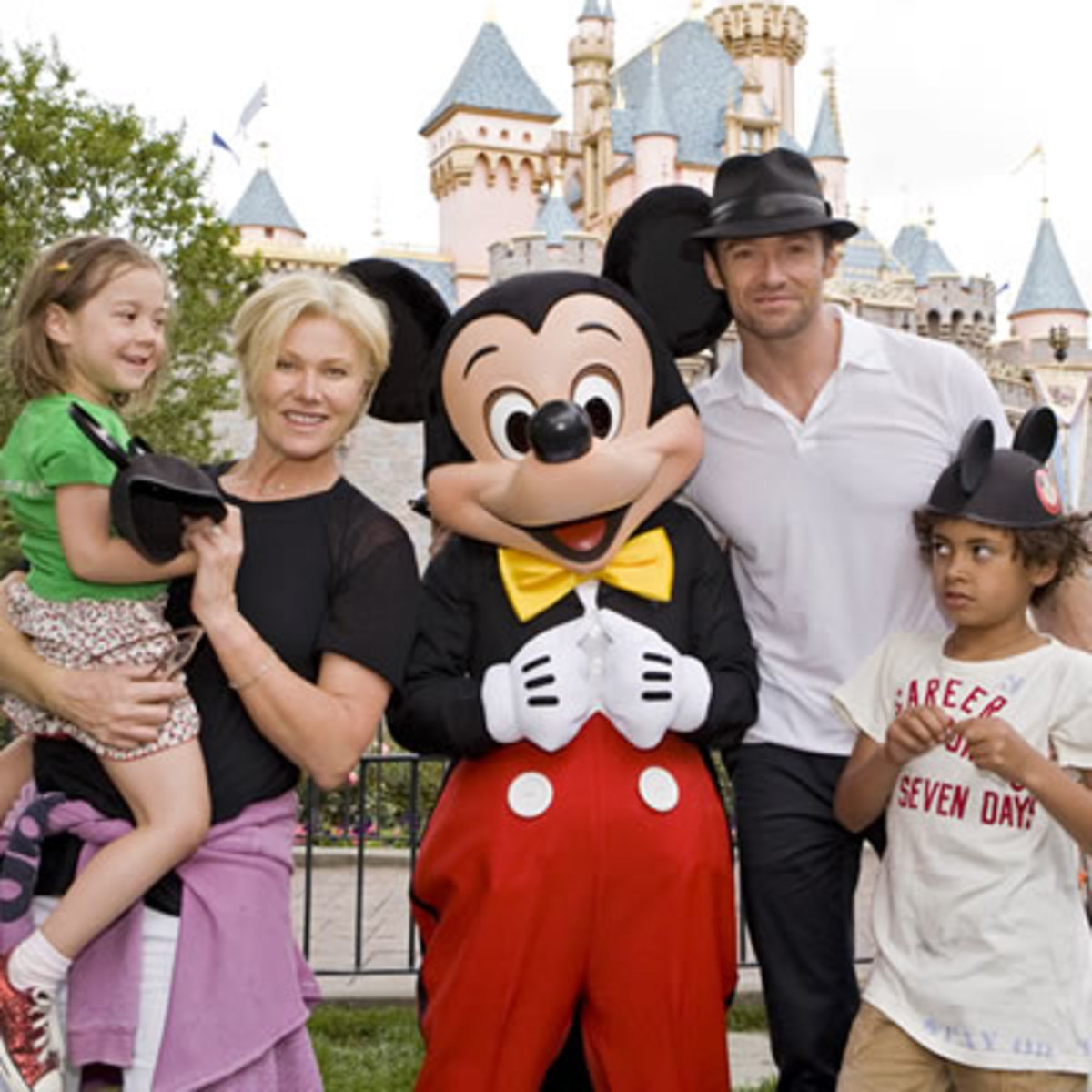 Hugh Jackman and family. Seriously, this guy just looks like an everyday family man.