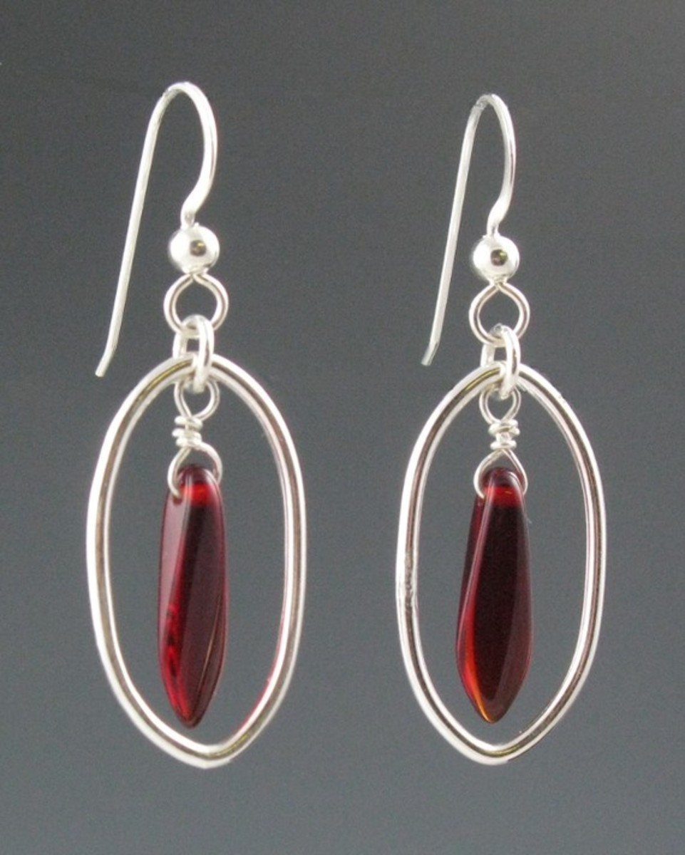 Using a small amount of daggers with simple wire or bead work can be striking, too.