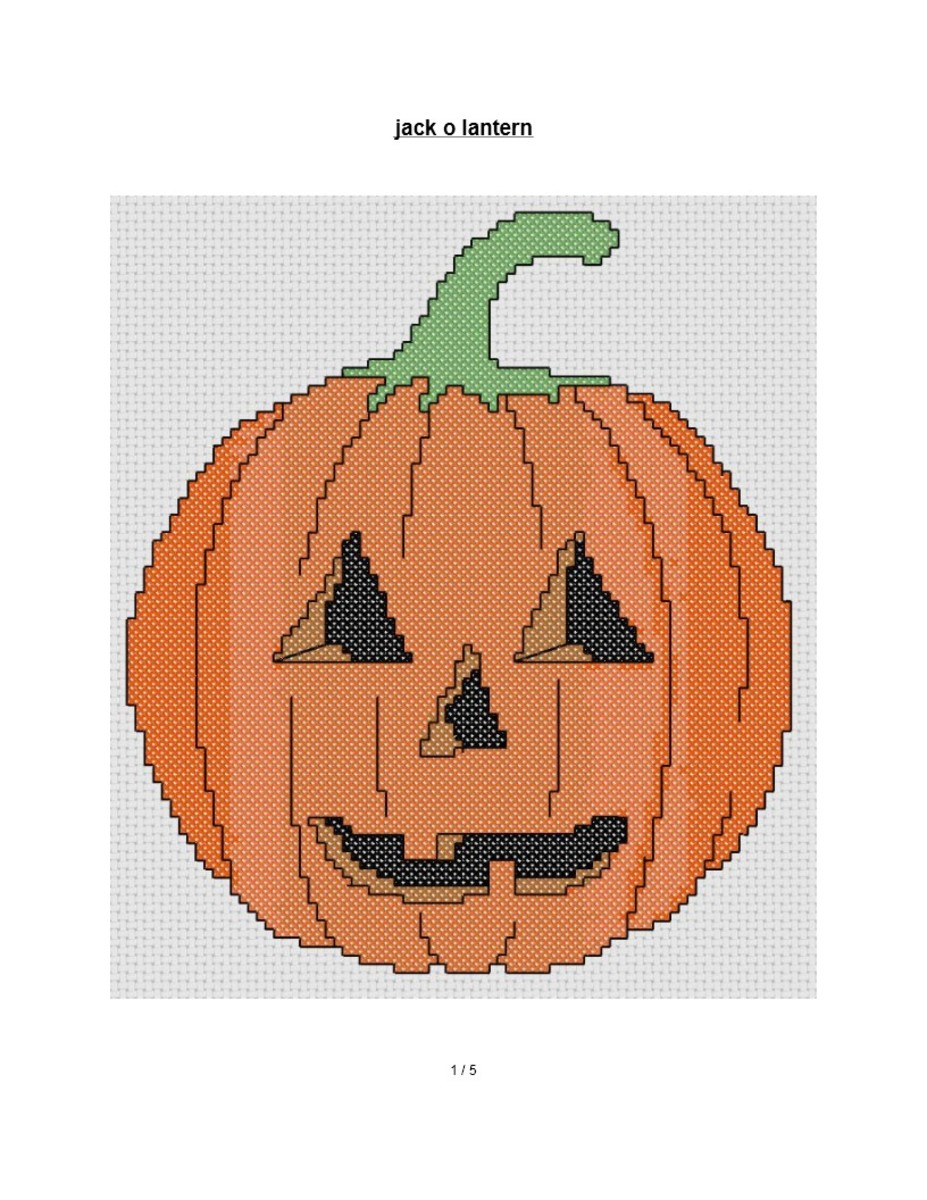 Free Cross Stitch Pattern Jack O Lantern