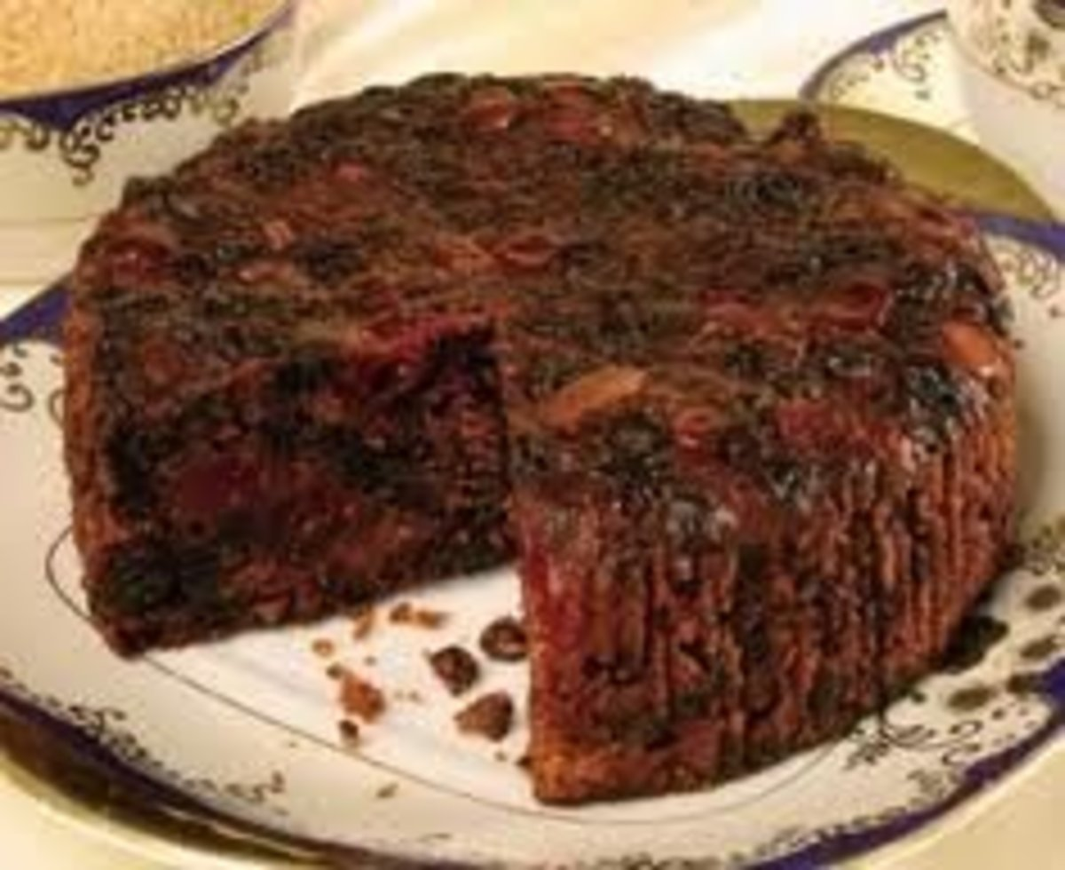 Guyana Black Cake With Almond Icing
