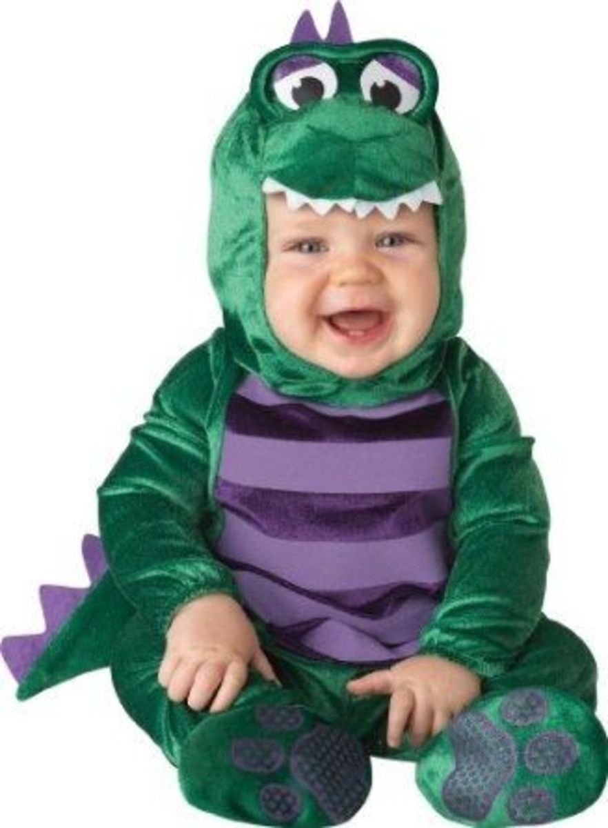 Lil Characters Unisex-baby Infant Dinosaur Costume