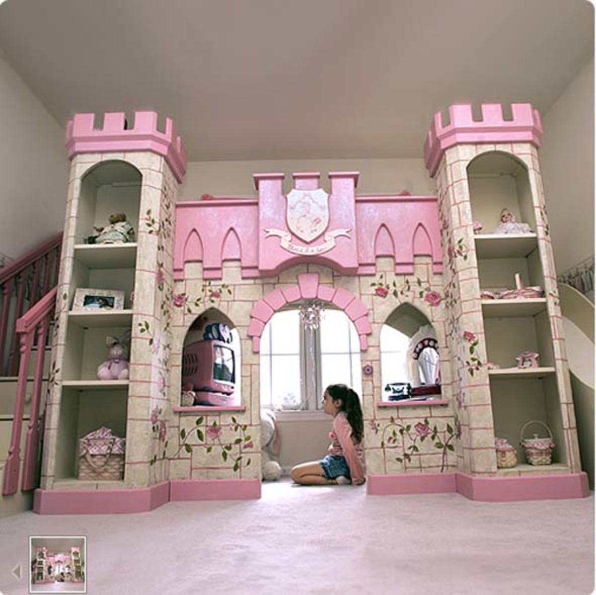 Girls Castle Bed 520 x 519