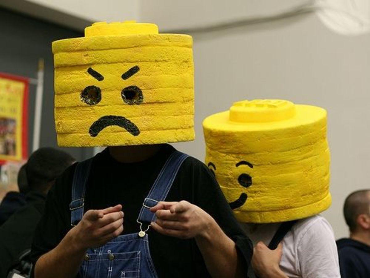 Homemade Lego Men Heads made out of Foam