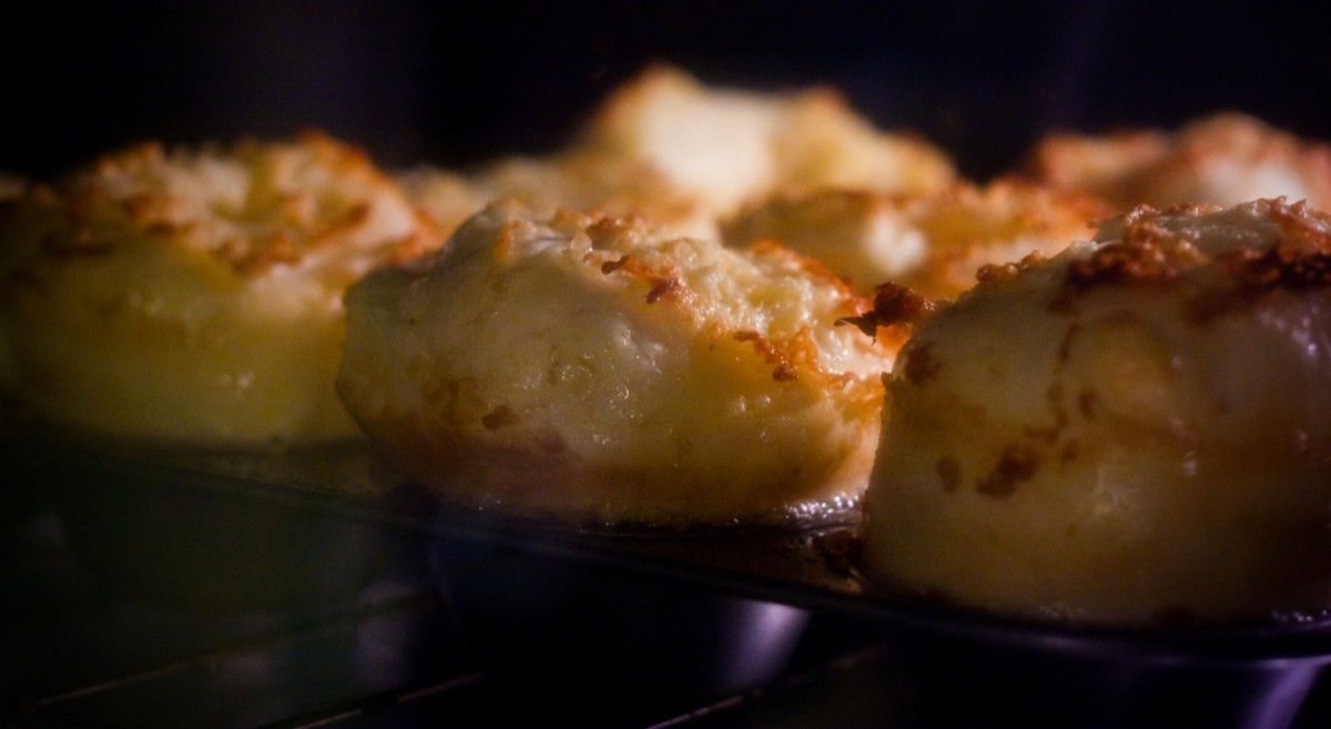 Yorkshire Puddings Rising in the Oven