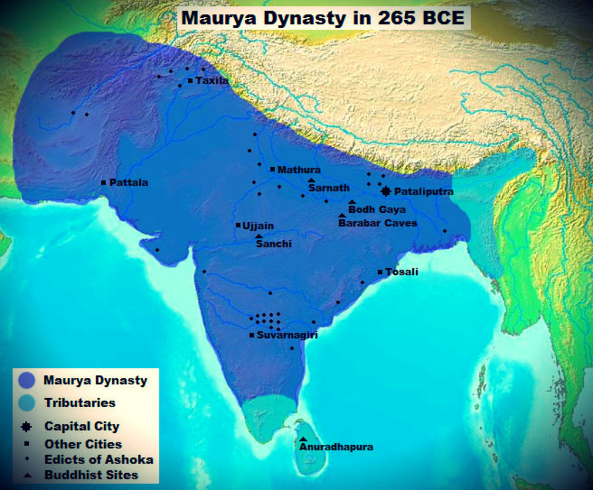 Extent of the Mauryan Empire