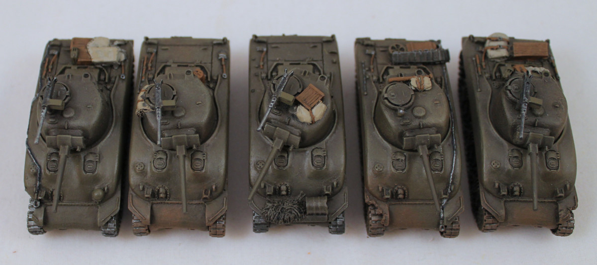 American Sherman tanks from Flames of War