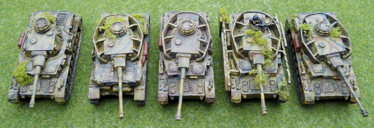 These Panzers have a lot of detailing, and even attached foliage as camouflage.
