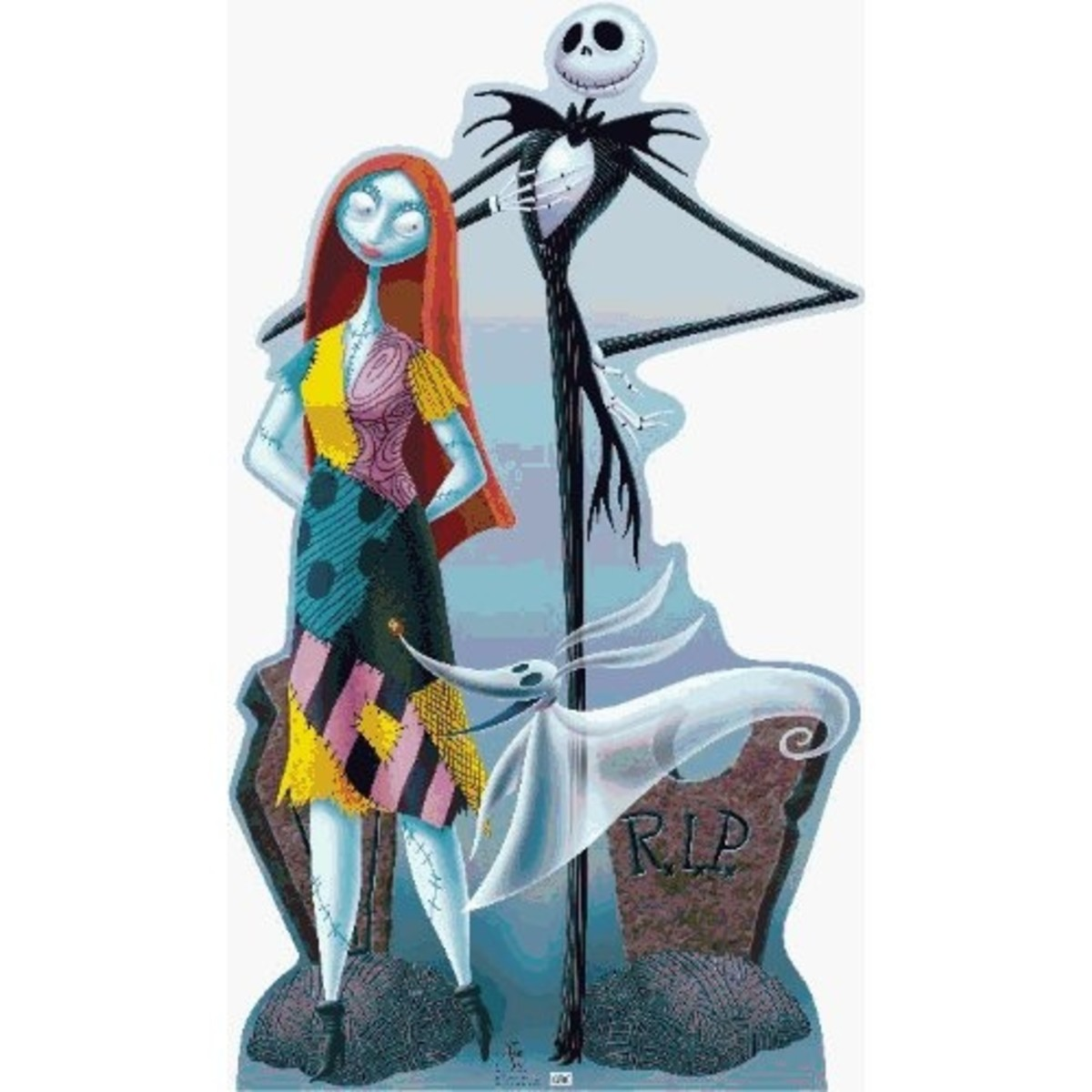 Jack, Sally, & Zero (The Nightmare Before Christmas) Life-Size Standup Poster
