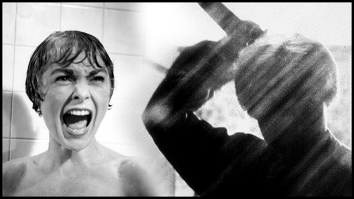 The infamous shower scene in Alfred Hitchcock's Psycho.