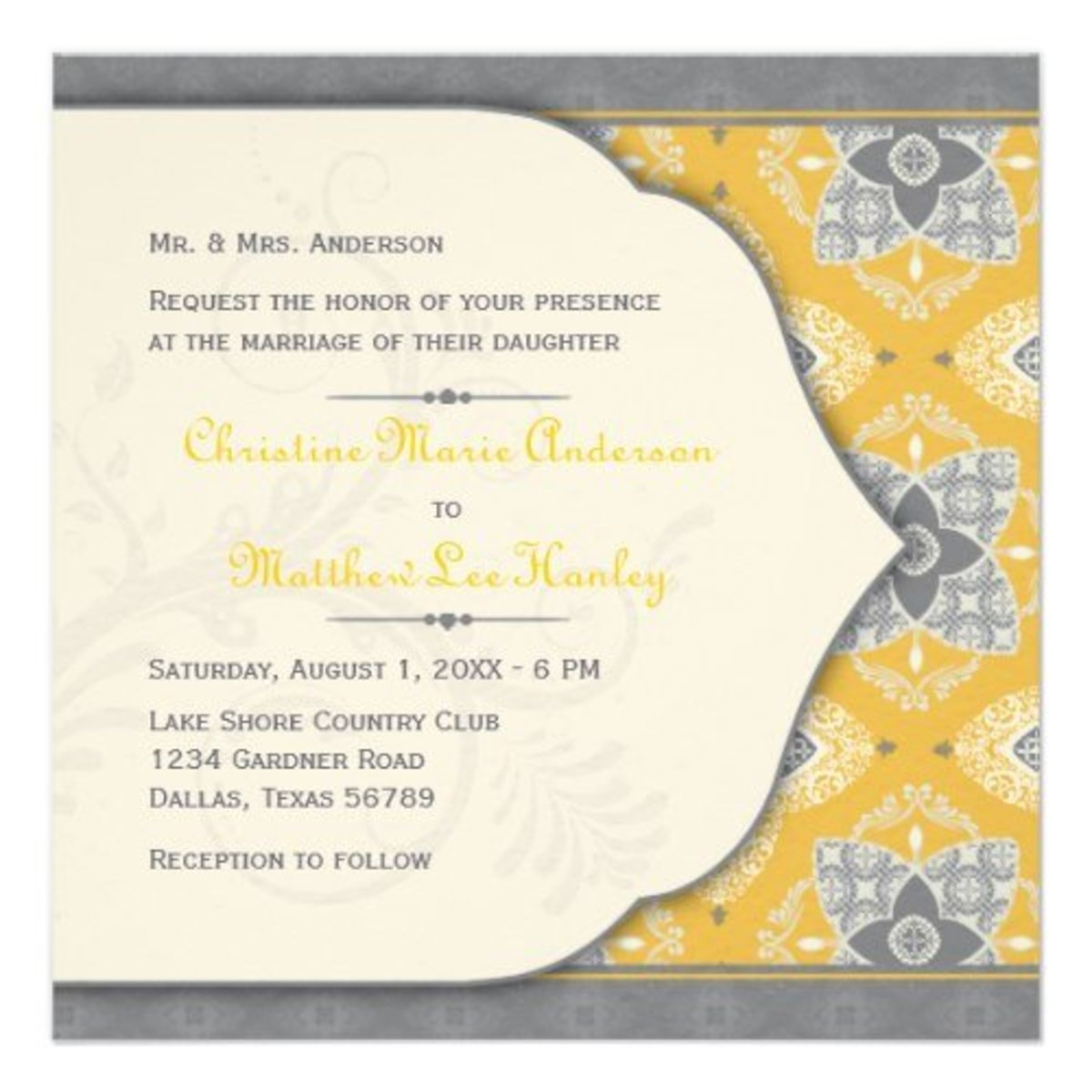 Moroccan Wedding Invitation sets the mood for the exotic reception to come