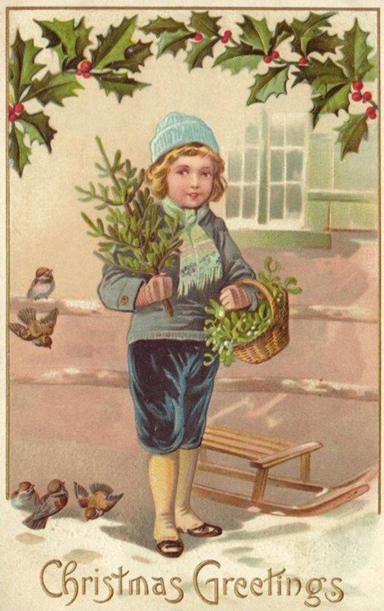 Victorian Christmas Boy
