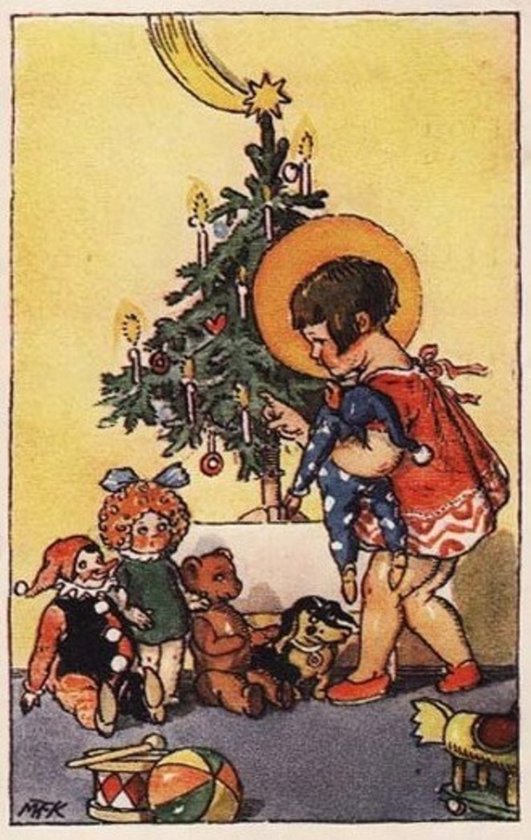 Art Deco Christmas Toys