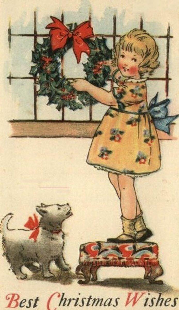 Art Deco Christmas Girl