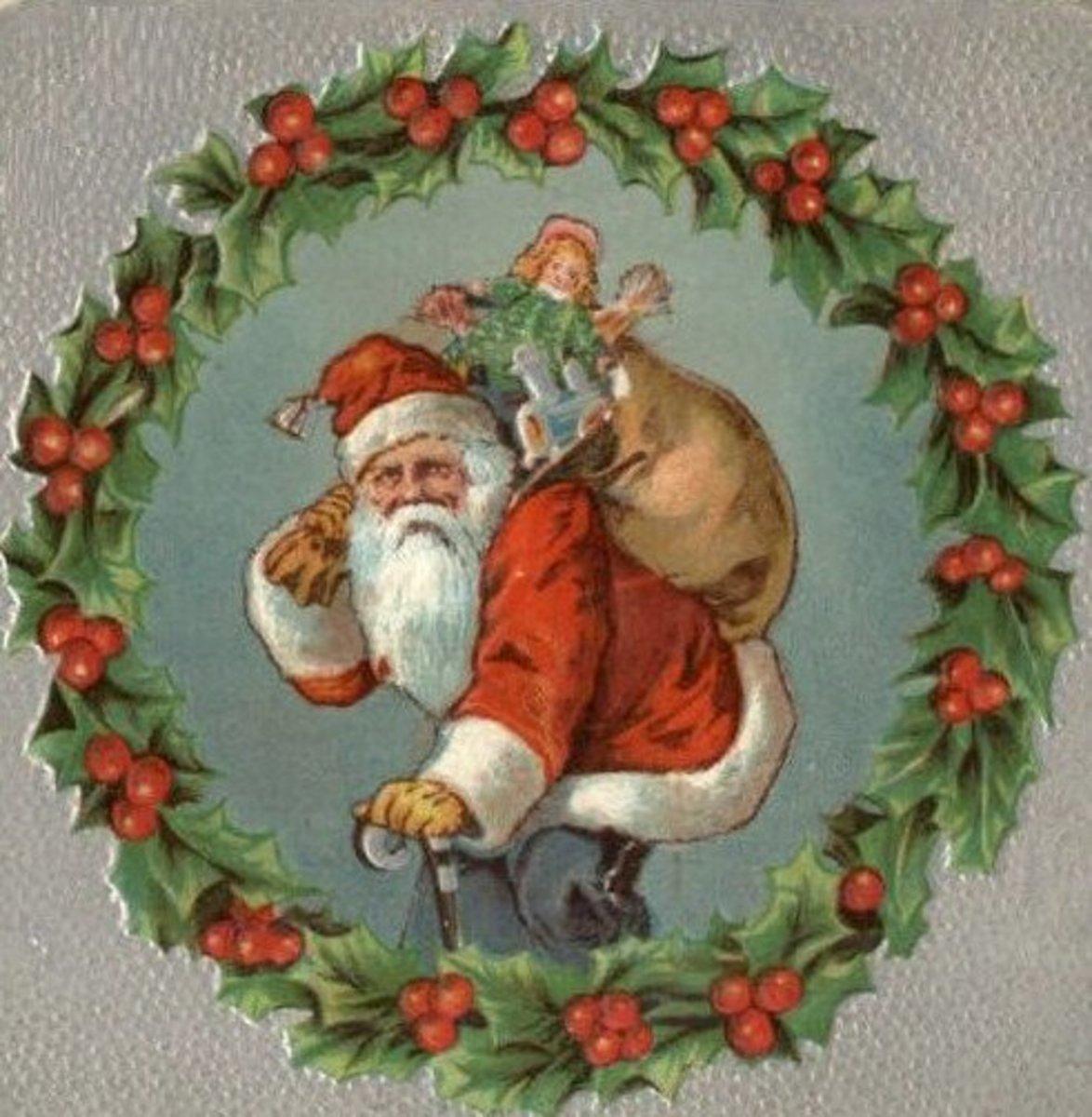 Santa Wreath