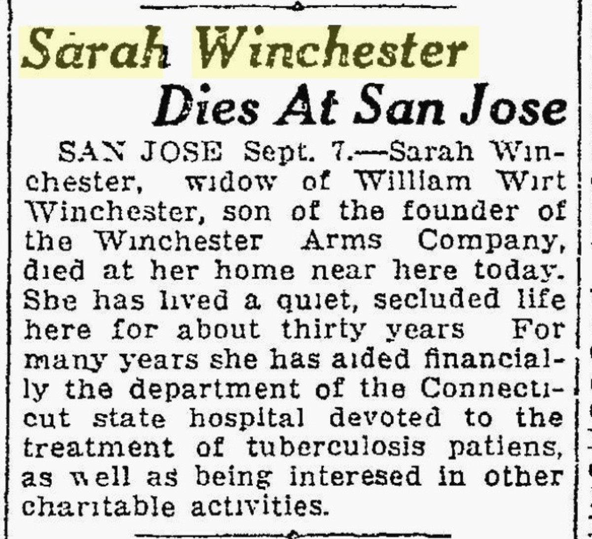 A brief announcement of her death in the local newspaper