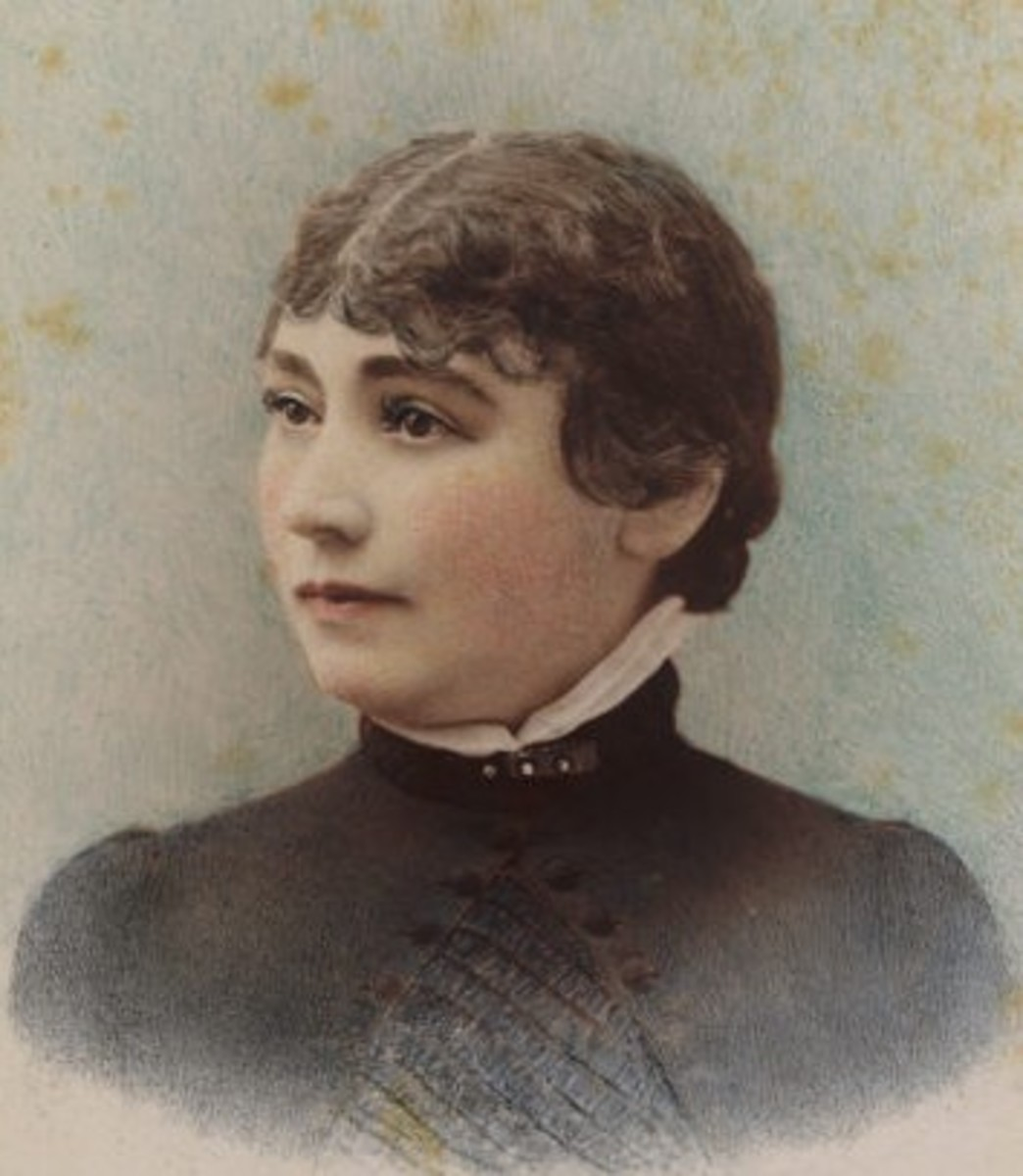 A young Sarah Winchester, 1865