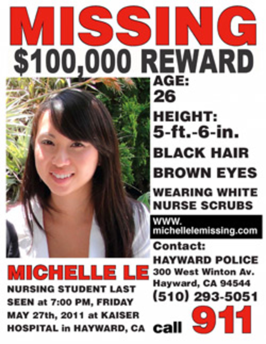 Michelle Le's missing poster flier.