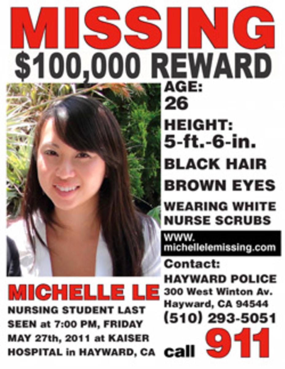 Michelle Le's missing poster flier.
