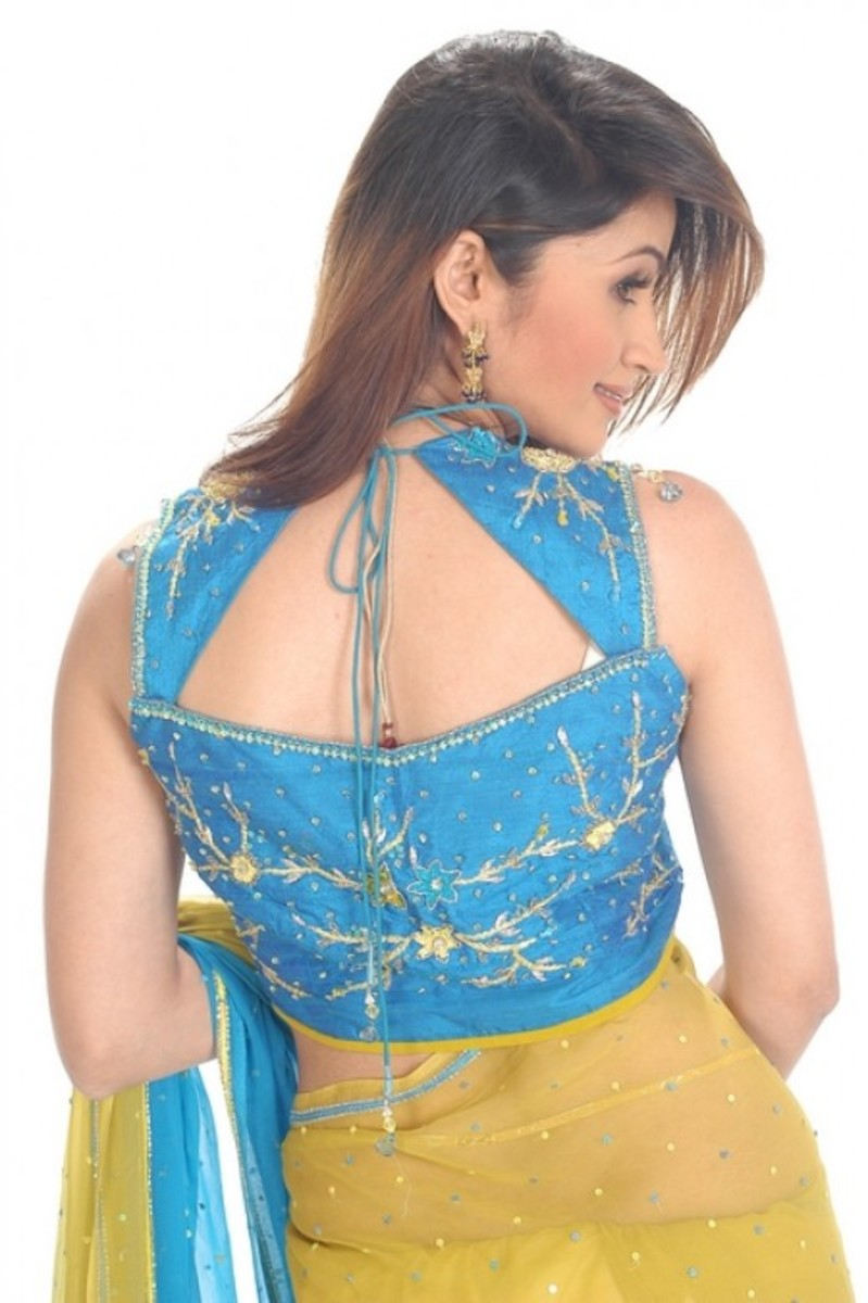 Saree Blouse Designs | Sleeveless Blouse Designs for Sarees