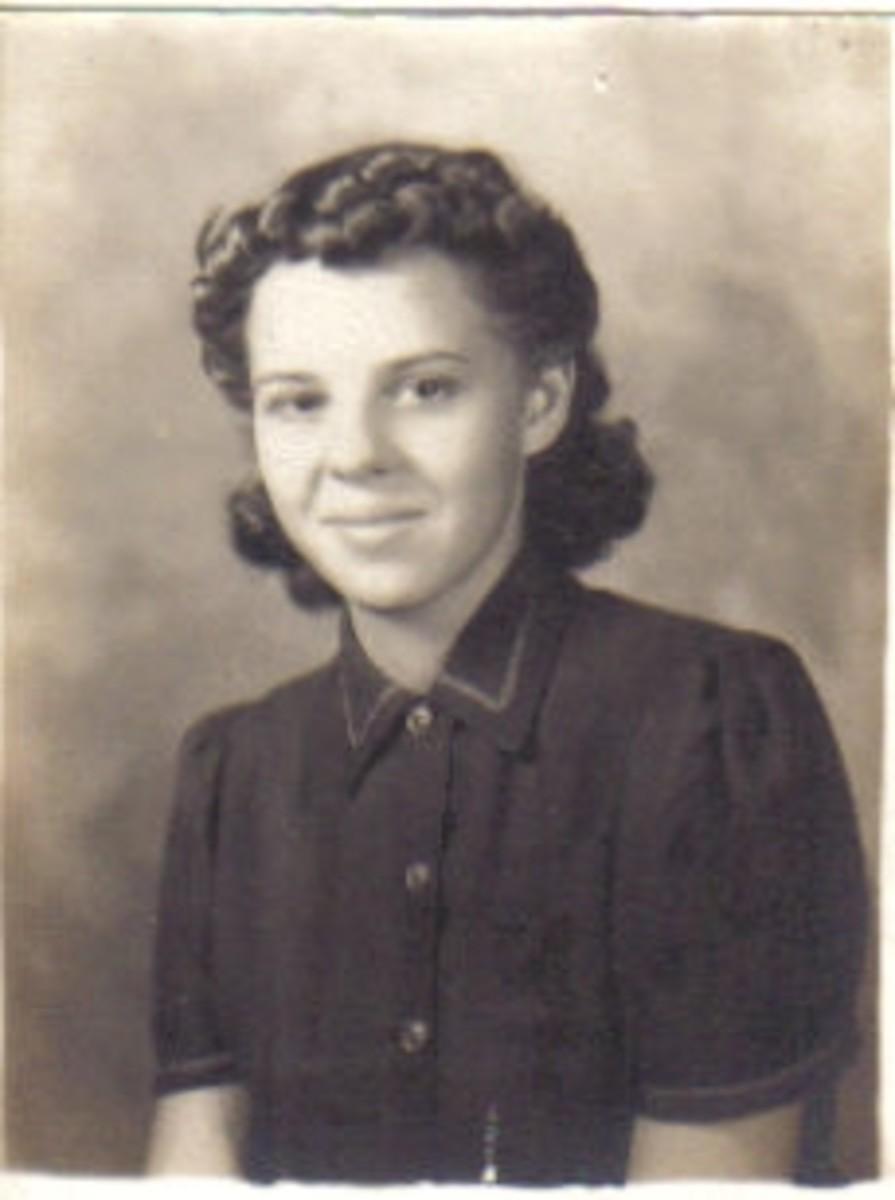 Gail McGhee (Martin) high school graduation picture